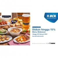 Diskon hingga 15% (BCA)