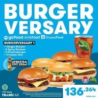Promo Burger Versary