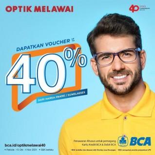 Voucher Diskon hingga 40% (BCA)