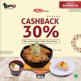 Cashback 30% (OCTO Mobile)